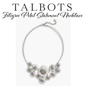 Talbots Necklace*Filigree Petals&Pave Stones(NWT)✔